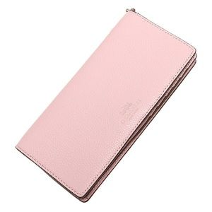 NEW! Coach women's wallet Pebble leather/pink